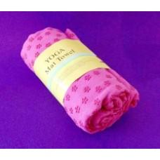 Полотенце для йоги с каплями сцепления/Розовое