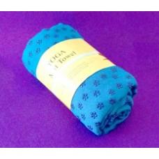 Полотенце для йоги с каплями сцепления/Голубое